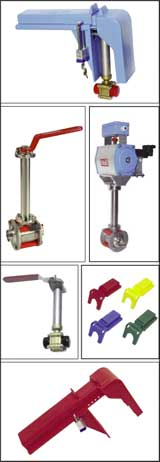 ball valves and ball valve lockouts